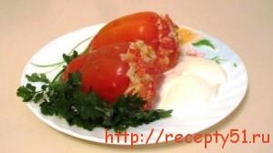 Перец с начинкой из мяса и риса