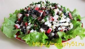 Салат с красной фасолью