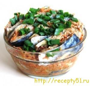 Сельдь с морковью по-корейски