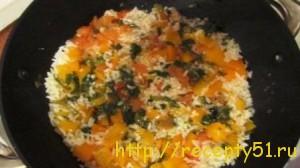 Рис с овощами и зеленью