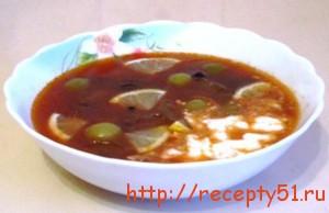 Суп грибной солянка