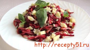 Салат из свеклы с грушами