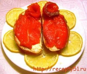 Соленая красная рыба