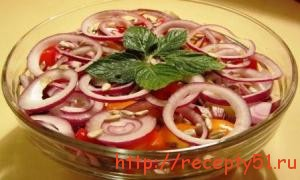 Картофельный салат с тыквой